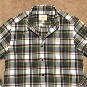 AE SERIOUSLY SOFT FLANNEL SHIRT XS NEW WITHOUT TAG